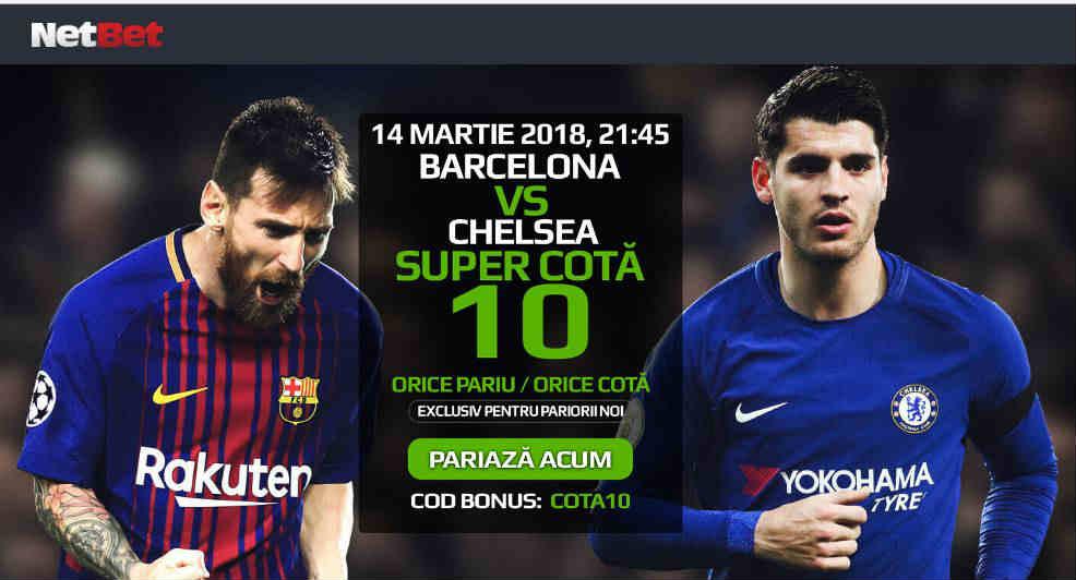 Barcelona vs Chelsea: cota 10.00 pentru ce vrei tu