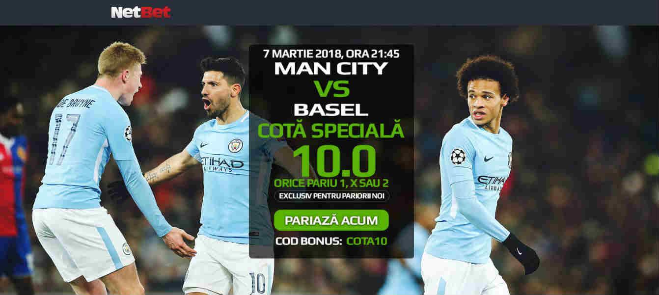 Pariaza la cota 10.00 pe Manchester City in partida cu FC Basel