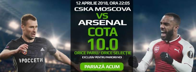 Orice pariu in CSKA Moscova vs Arsenal are cota 10