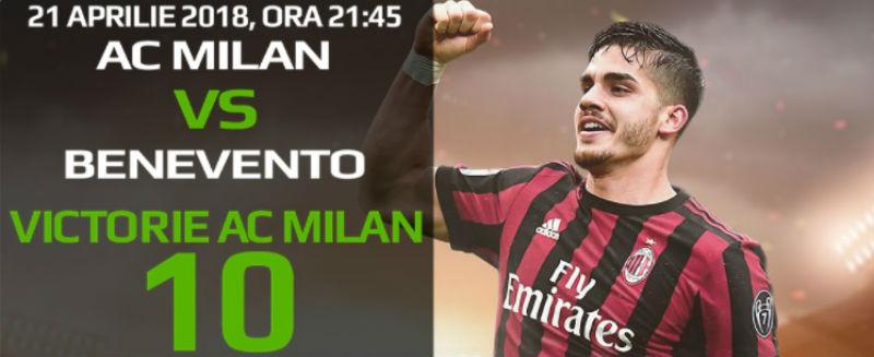 AC Milan este cotata cu 10 contra ultimei clasate