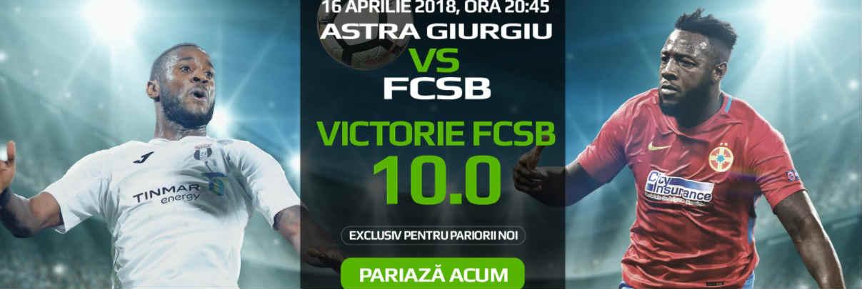 Victoria FCSB contra Astrei este cotata cu 10