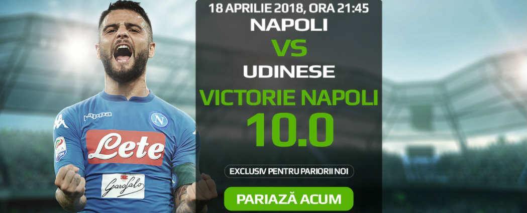Pariorii noi beneficiaza de cota 10 pentru victoria lui Napoli