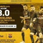 Pariaza la cota 8.00 pe Barcelona in finala Cupei Regelui