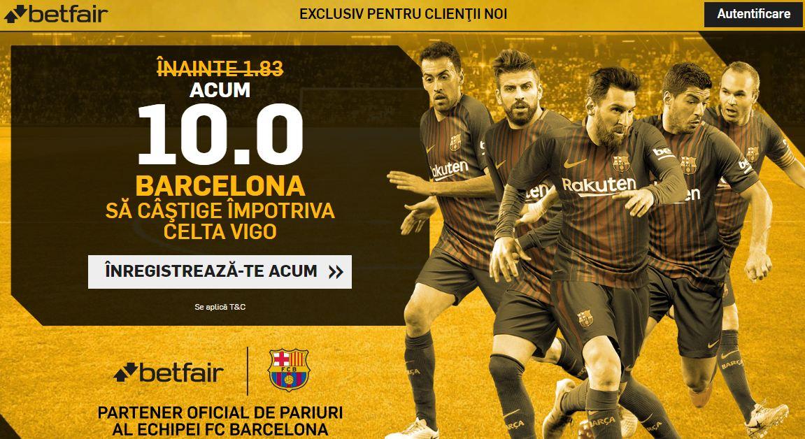 Pariaza pe Barcelona la cota 10.00 in loc de 1.83