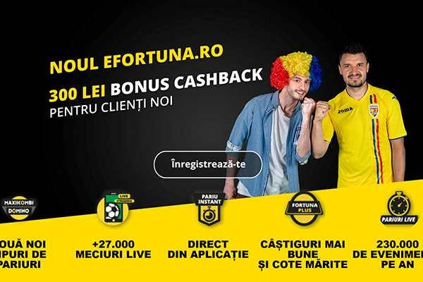 300RON cashback fortuna