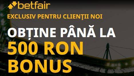 Betfair Bonus - Pana la 500 RON