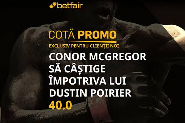 cota marita Poirier vs McGregor betfair 24-1