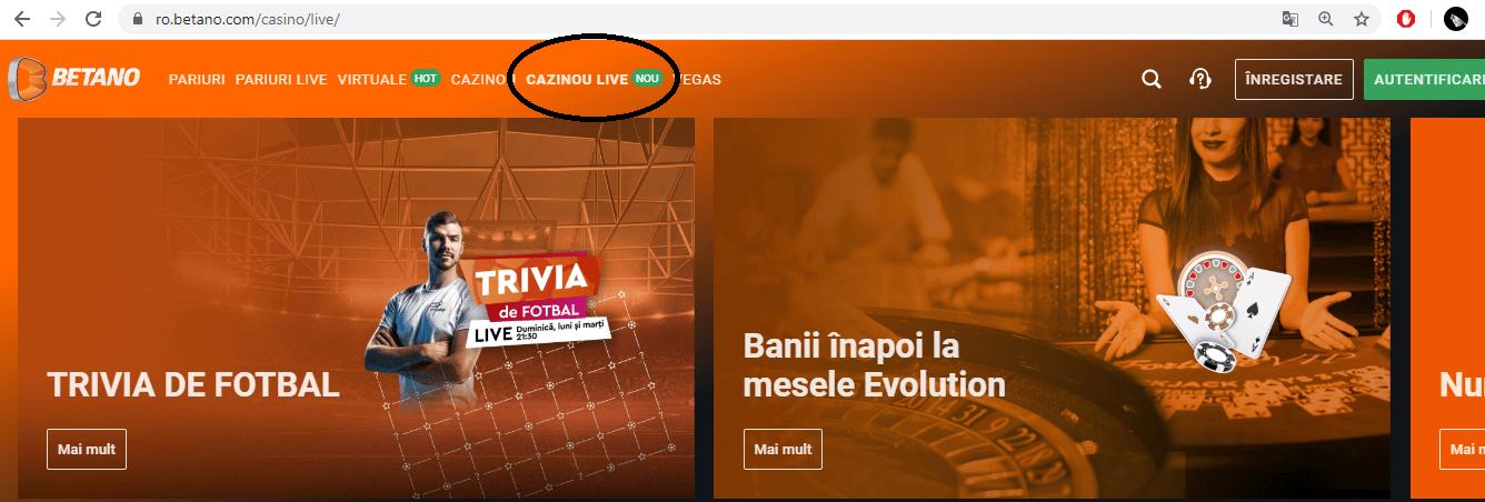 Betano Cazinou Live