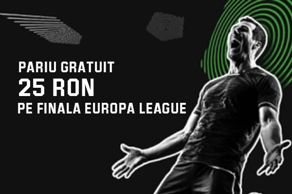 Pariaza pe finala Europa League si castiga 25 RON pariu gratuit