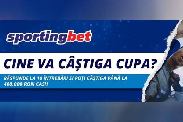 Predictorul Euro 2020 la Sportingbet: castiga 400.000 RON cash!